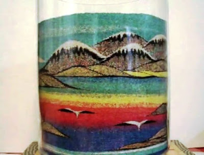 glass sand art