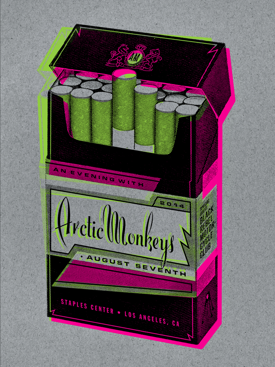 Poster design staples - Arctic Monkeys Los Angeles Poster By Kii Arens