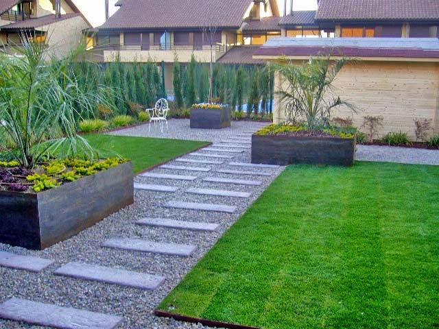 Arte y jardiner a dise o de jardines poner las cosas en for Jardines modernos fotos