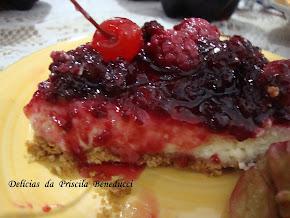 Cheesecake de Frutas Vermelhas Perfeito