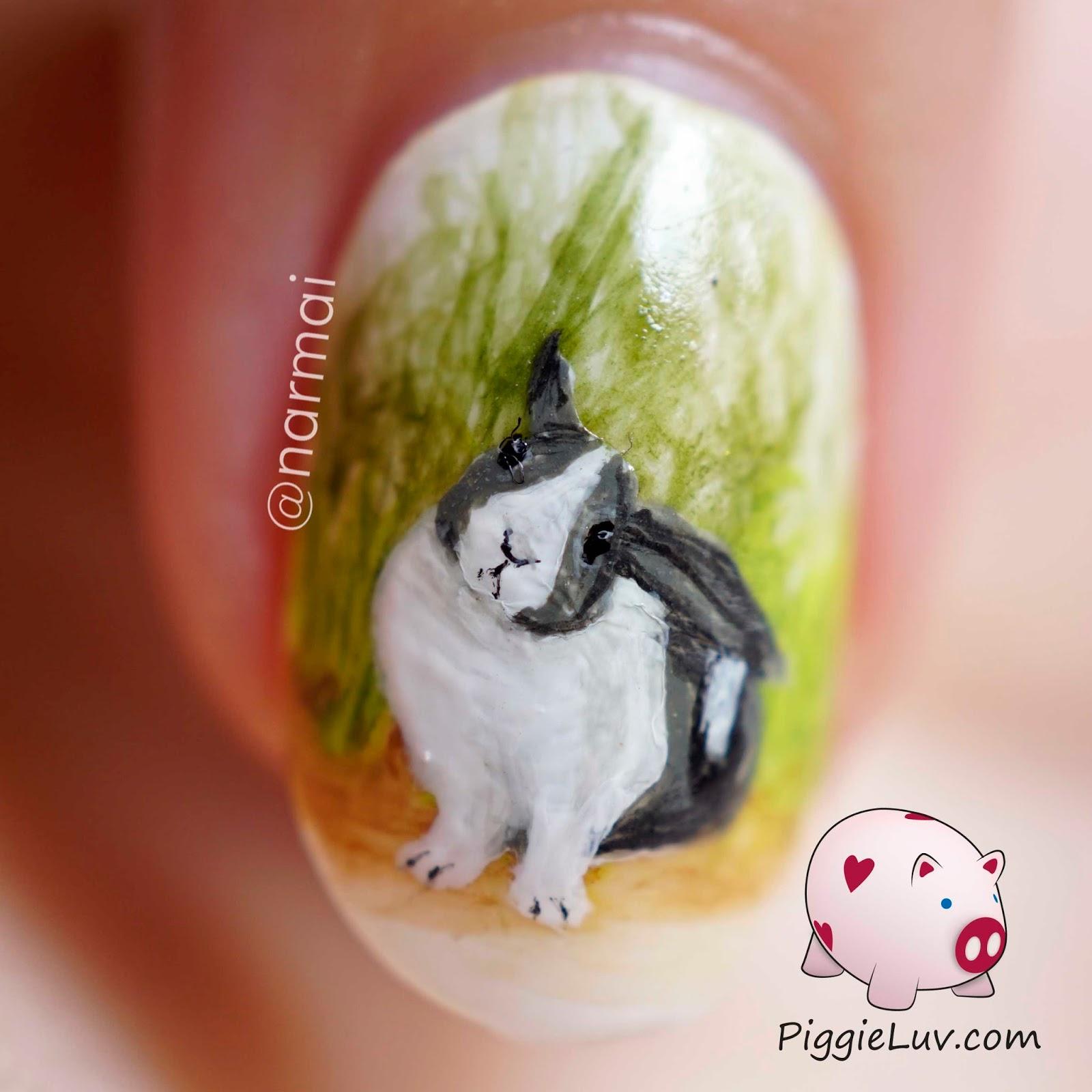 Piggieluv freehand dutch rabbit nail art freehand dutch rabbit nail art prinsesfo Image collections