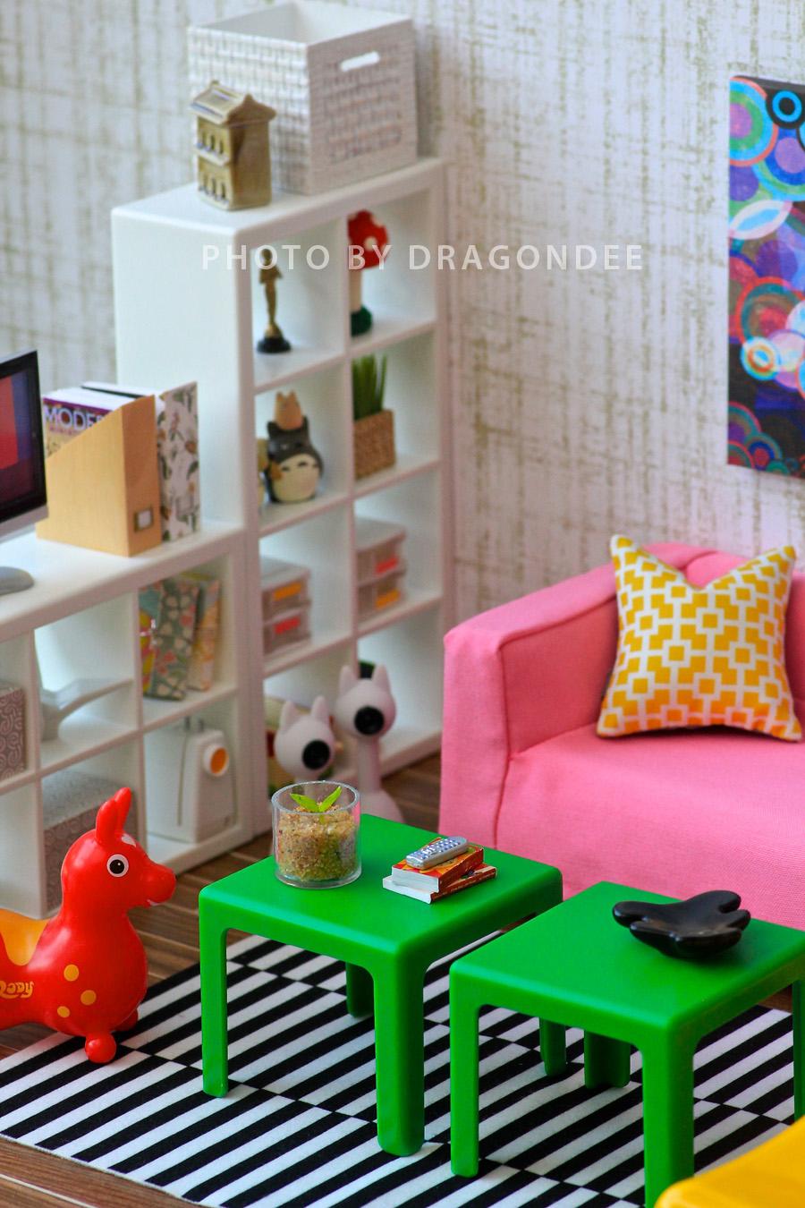 modern miniatures by dragondee ikea huset living room set. Black Bedroom Furniture Sets. Home Design Ideas