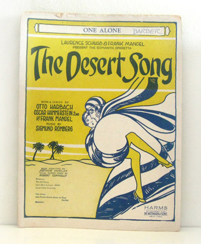 ismoyo's vintage playground: 1920s sheet music art - the Desert Song - Flapper