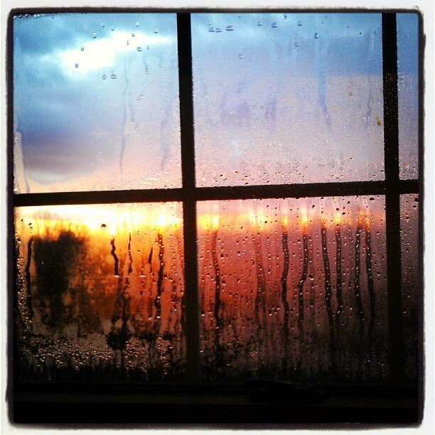 Condensated Sunset from the Craft Loft