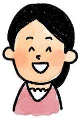 女性の表情のイラスト(笑い)