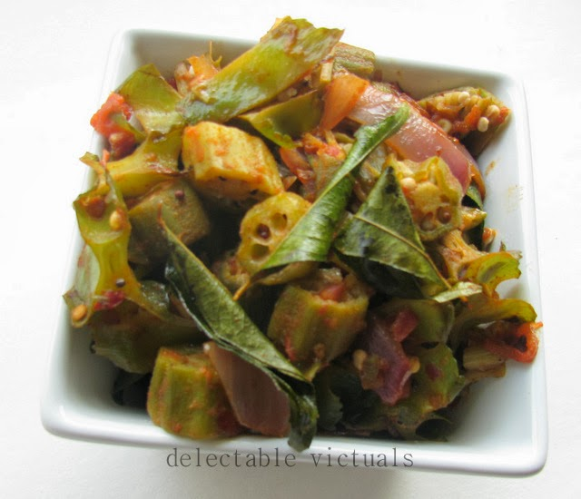 South Indian Style Winged Beans Okra Curry Leaves