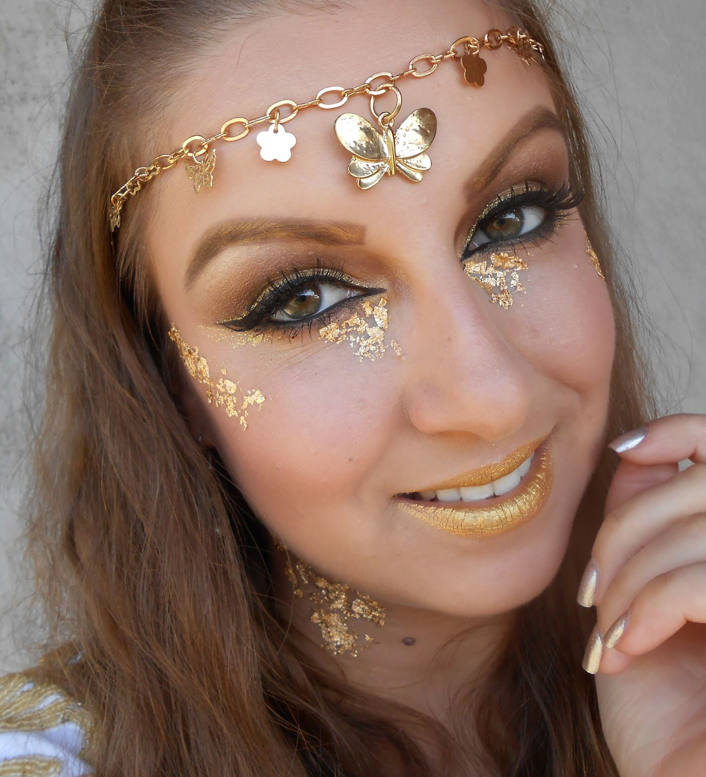 Fotd Golden Goddess Halloween Makeup Beauty Of The Suns