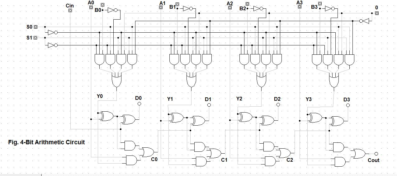 Let U0026 39 S Learn Computing  4 Bit Arithmetic Circuit
