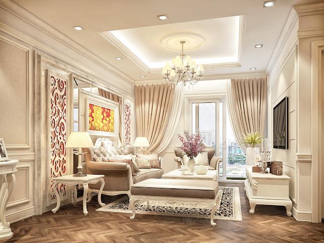 Phòng khách căn hộ GoldSilk Complex