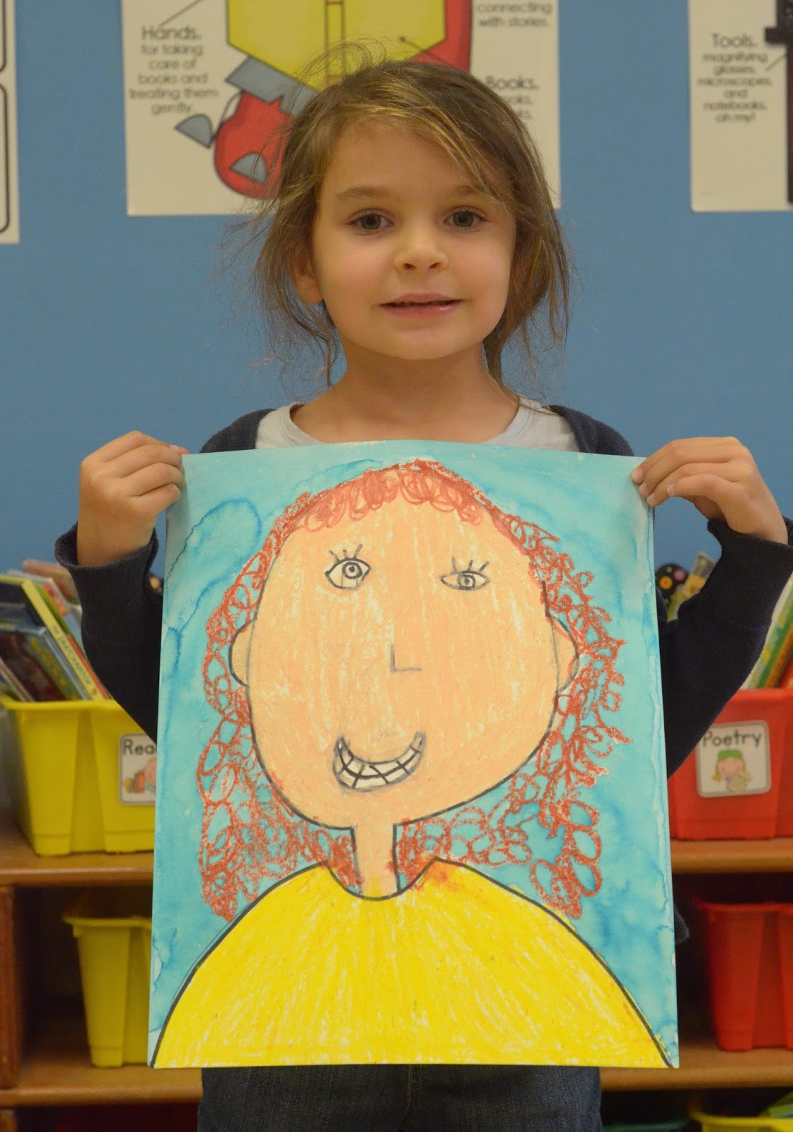 Classroom Decor Charts ~ A place called kindergarten our self portraits