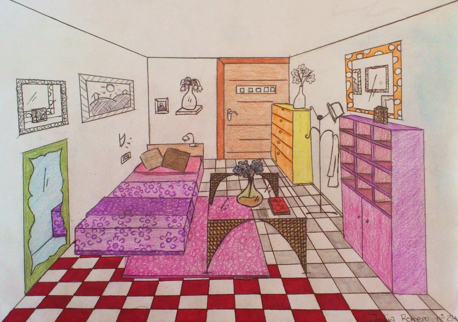 Qu arte quillo dise os de habitaciones en perspectiva c nica frontal 1 eso - Habitacion en perspectiva conica ...