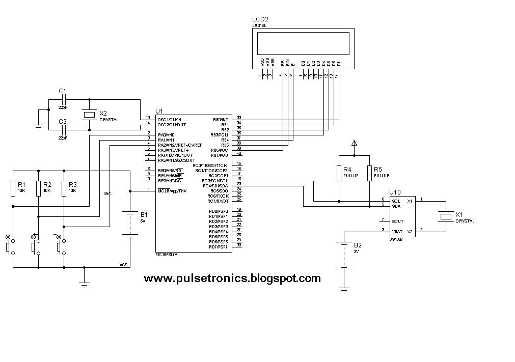 Make Electronics Ng Digital Clock Design Using Ds1307 And Pic