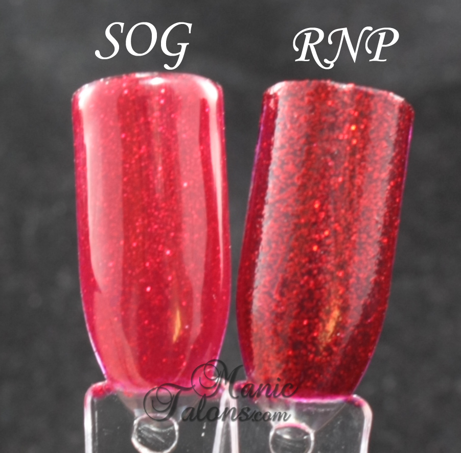 Gelaze Ruby Pumps vs China Glaze Ruby Pumps