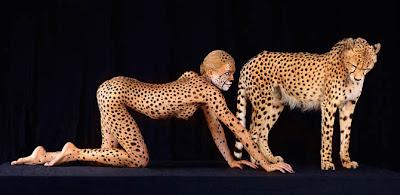 Body paint Guepardo Cheetah pintar cuerpo
