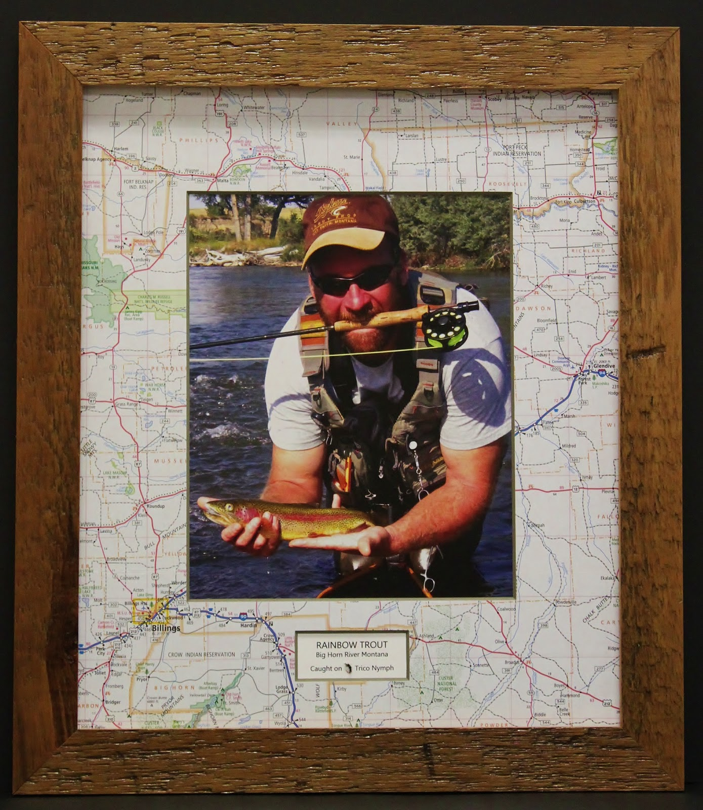 Casco bay frames gallery fly fishing frame for Fishing picture frame