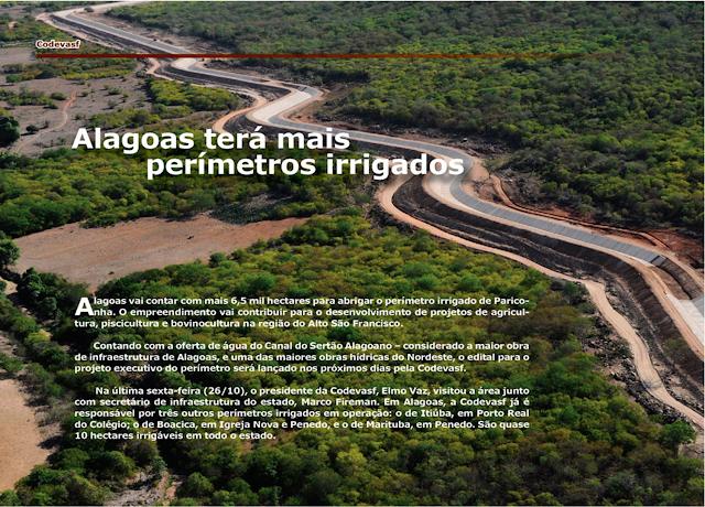 Alagoas terá mais perímetros irrigados