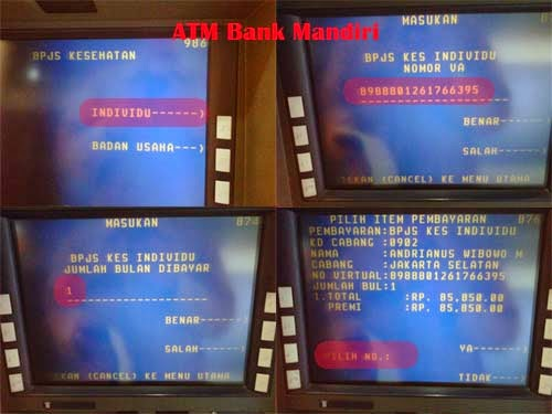 bayar BPJS via ATM Bank Mandiri 2