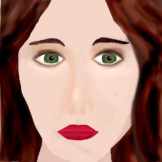 digitale Porträtzeichnung einer Frau Version 2