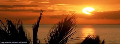 Couverture facebook paysage coucher de soleil