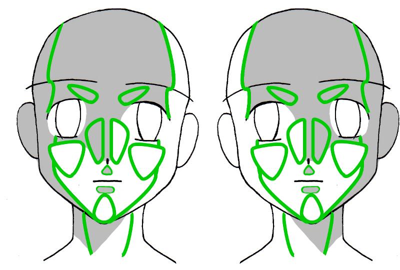comment dessiner des ombres sur visage