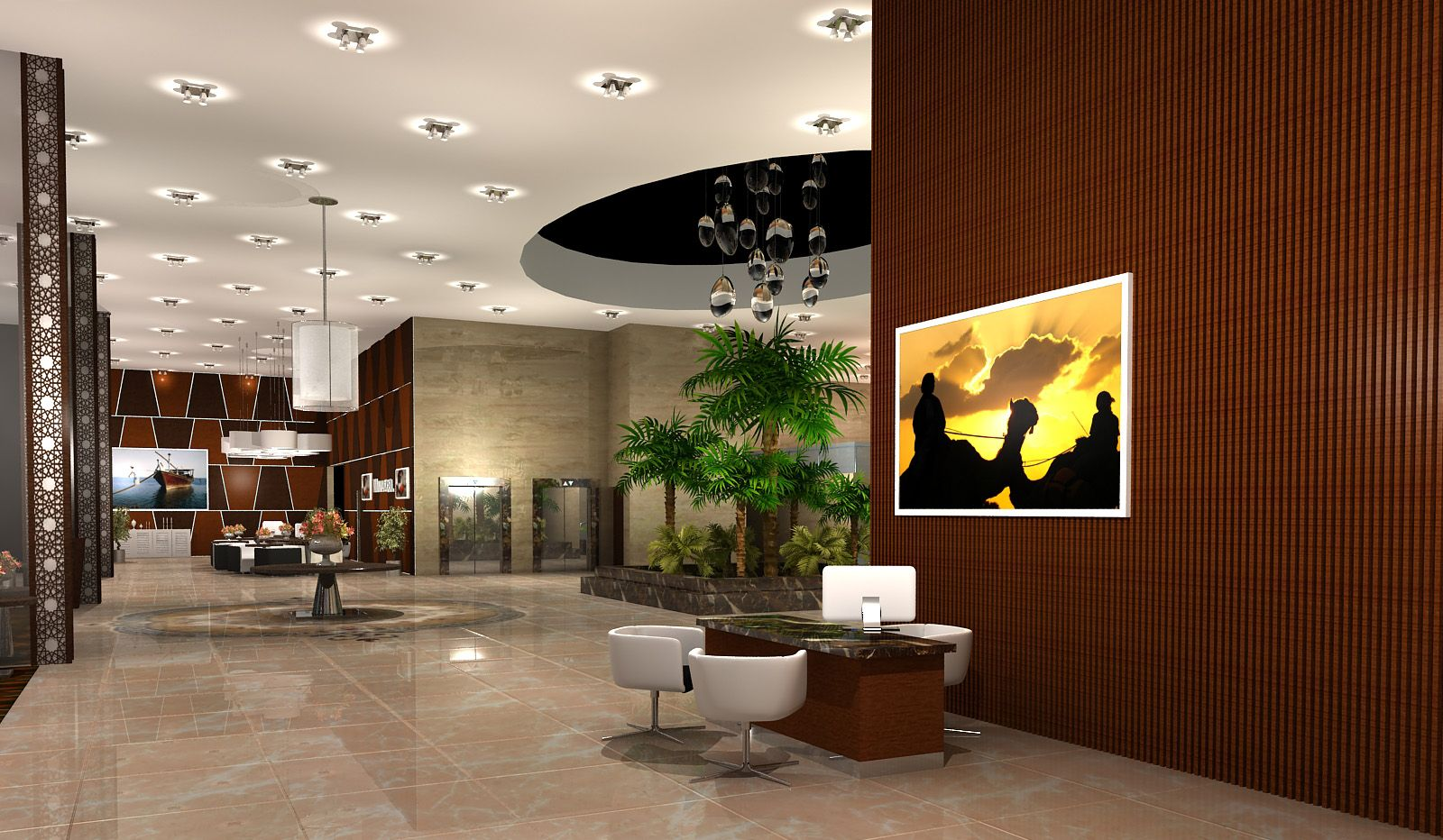 The first ferry manazil five star hotel lobby design for Five star hotel