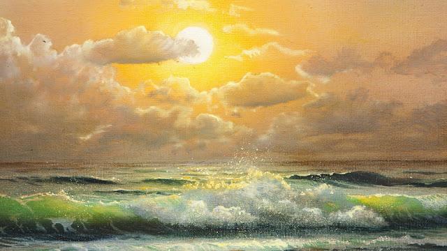 Fondo Pintura Tarde en la Playa