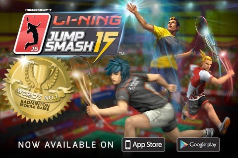 Jump Smash™ 15 Badminton Smartphone Game Application With Mediasoft™ Entertainment