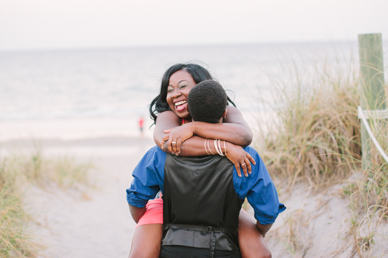 atlantic dunes beach engagement photo