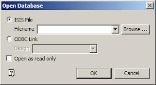 Open Database panel
