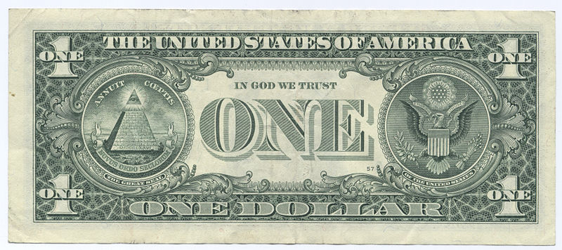 how to write one dollar in report