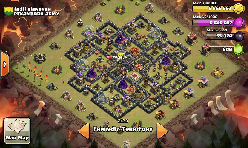 Ini base war th 8 anti gowiwi dan naga base th 9 terbaru 2015 base th