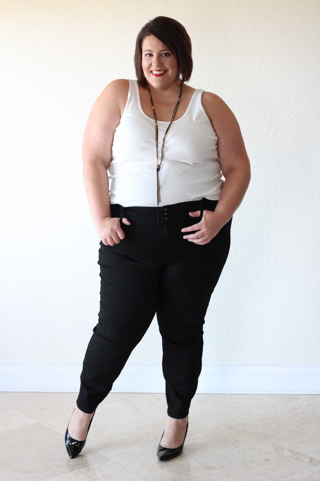 jessica kane how to style black plus size skinny denim jean