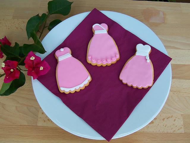 galletas de vestidos, vestidos princesa fondant, fondant