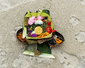 Offering on the beach
