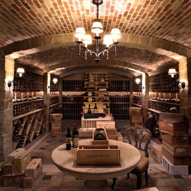 Our french inspired home old world rustic wine cellars for Wine rooms in homes