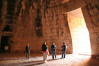 Inside the underground dome, Treasury of Atreus or Tomb of Agamemnon