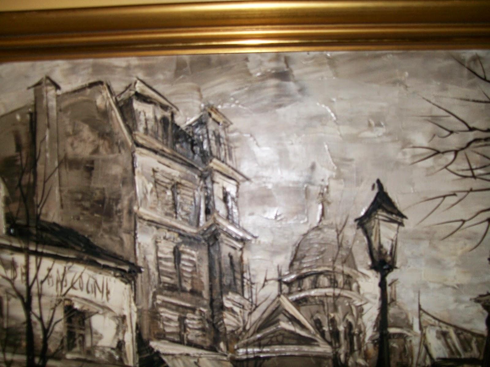 Calogilou le champi tableaux peintures hst vue de for Tableau paris noir et blanc