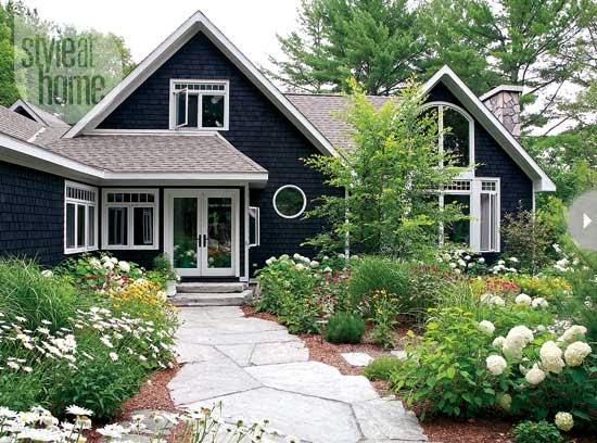 Black house exterior