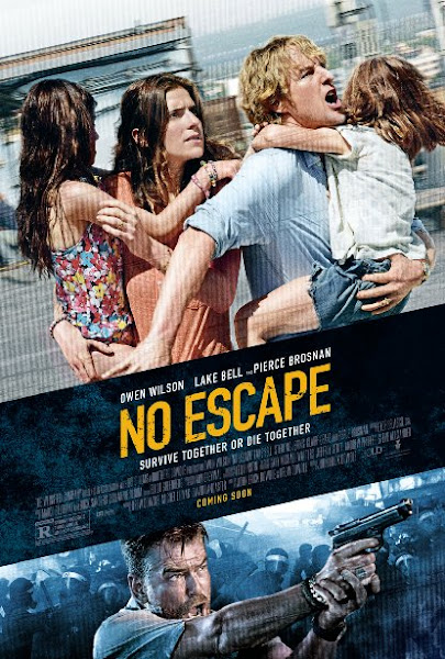 Poster Of No Escape 2015 720p BRRip Dual Audio Full Movie Download