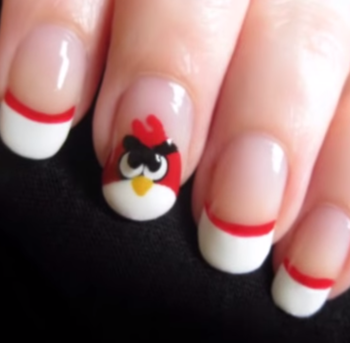 Angry Birds Nail Art Tutorial Cutepolish