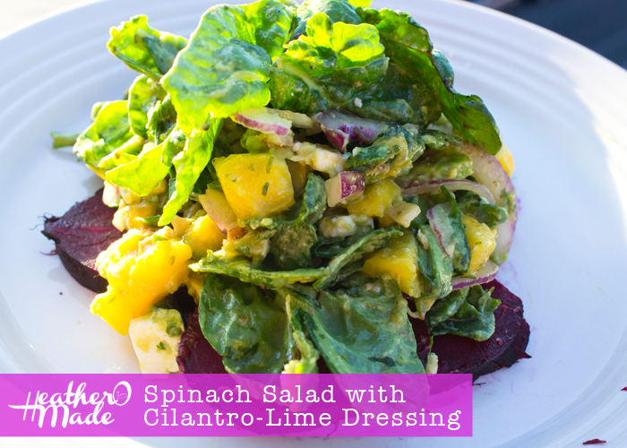 Spinach Salad with Cilantro-Lime Dressing