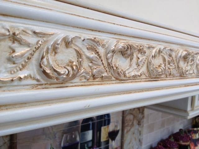 Glazed painted woodwork detail