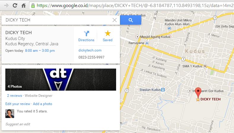Cara Pasang Lokasi di Google Map