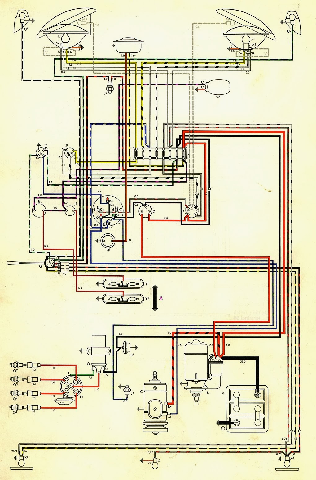 1969 Vw Wiring Diagram Free For You New Beetle Starter Type 3 R32