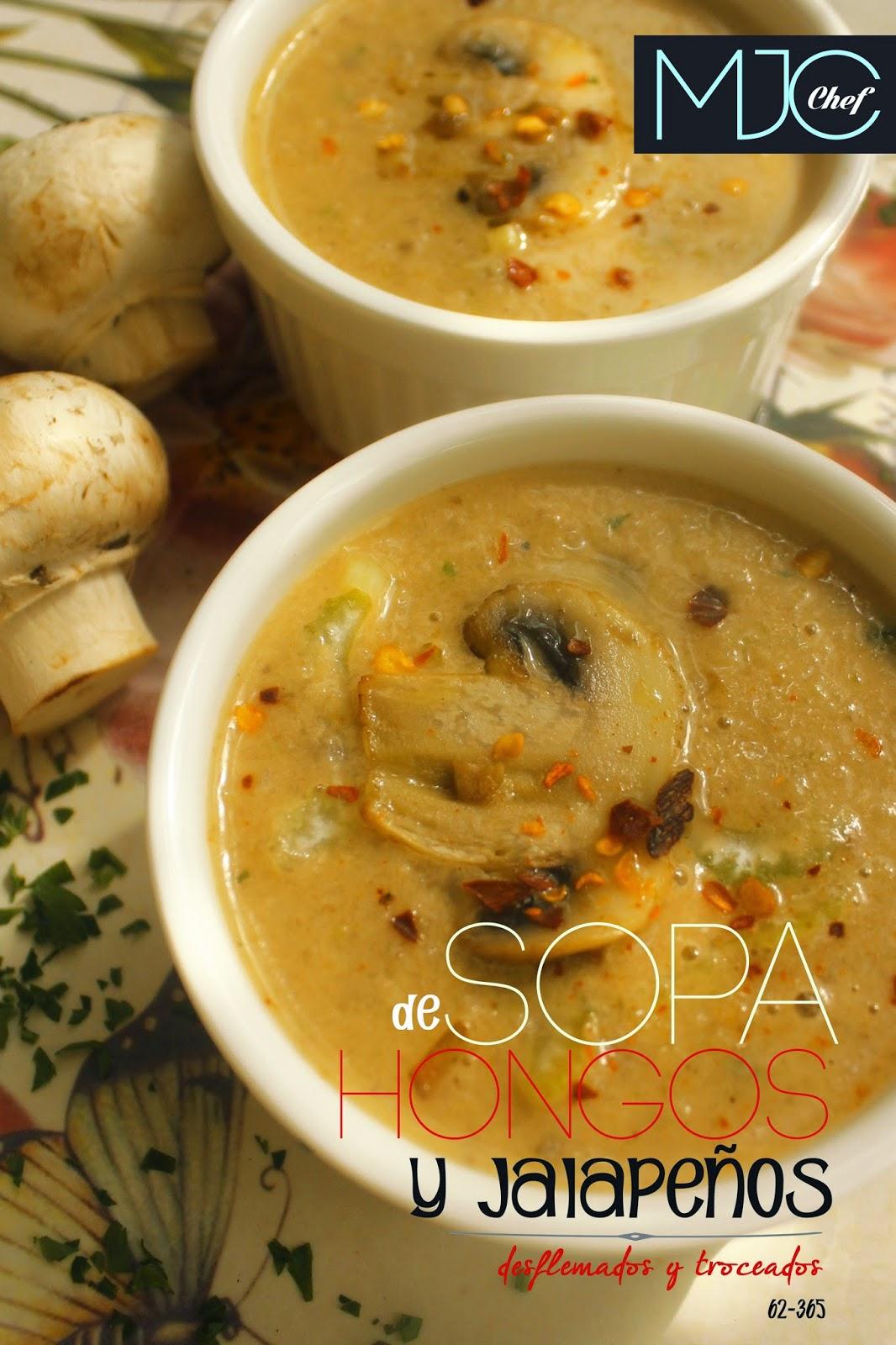 Sopa de jalapeños