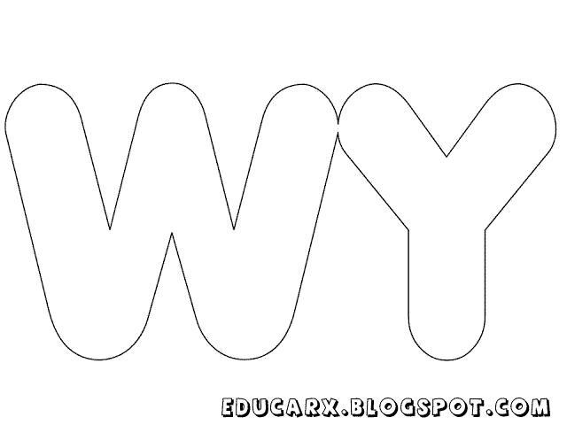 Molde de letras grandes wy