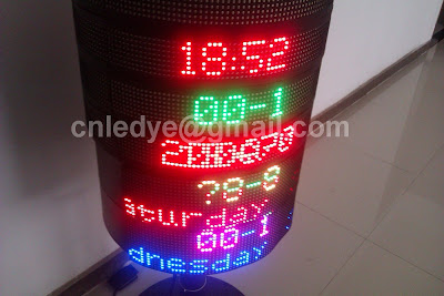 round led sign, flexible screen