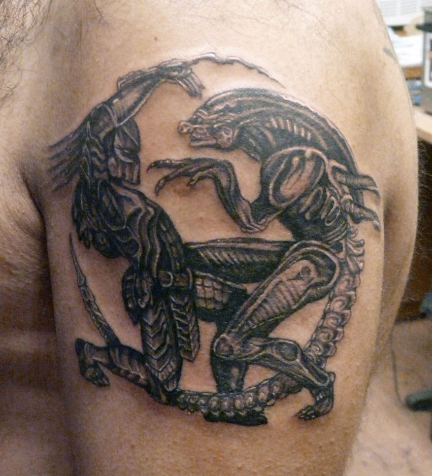 My Tattoo Designs: Alien Vs Predator Tattoo