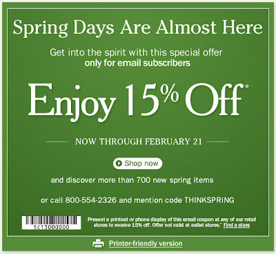 Click to view this Feb. 17, 2011 L.L. Bean email full-sized