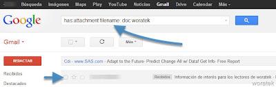 Buscar textos en archivos adjuntos en Gmail